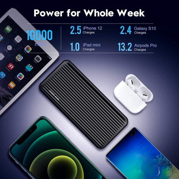 Batterie externe 10000mAh Undreem x2 tiens une semaine
