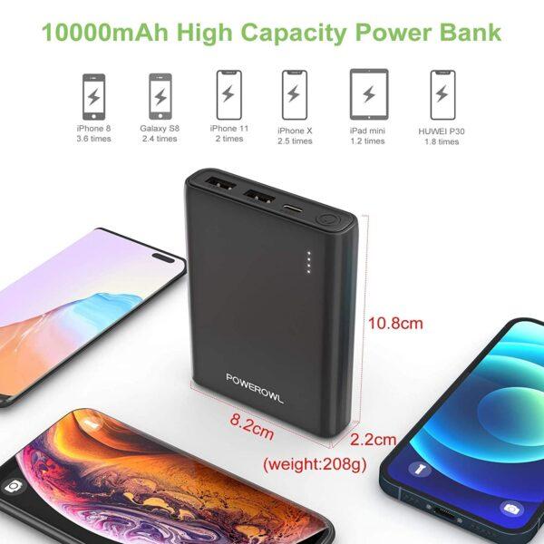 Batterie externe 10000mAh avec des Piles grande capacité