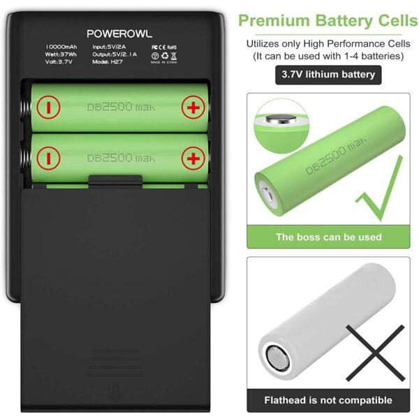 Batterie externe 10000mAh avec des Piles haute qualité