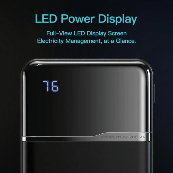 Batterie externe 10000mAh avec pourcentage affichage led