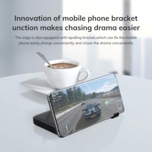 Batterie externe 10000mAh avec support pour smartphone