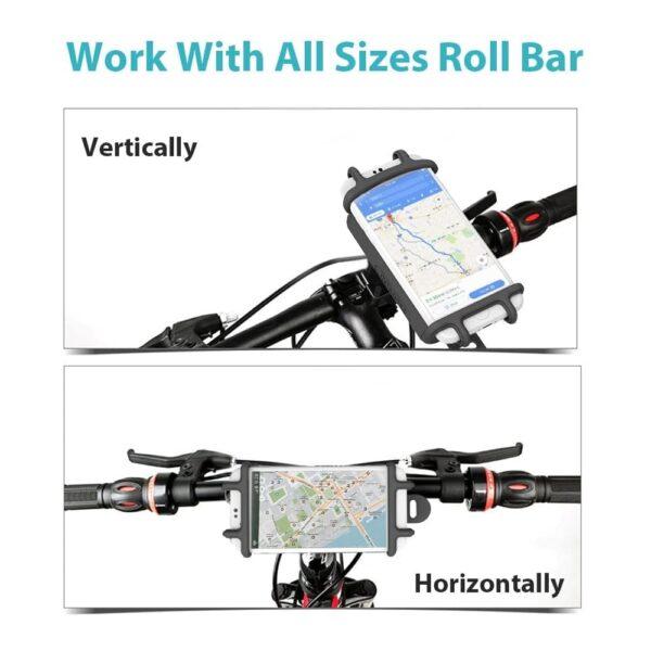 Batterie externe 10000mAh avec support vélo vertical ou horizontal