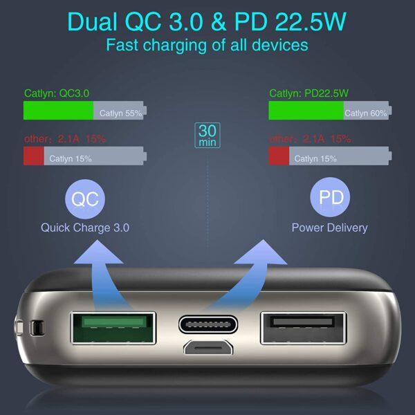 Batterie externe 10000mAh ockered charge rapide
