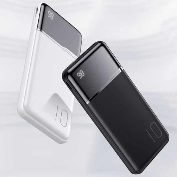 Batterie externe 10000mAh portable blanche et noir