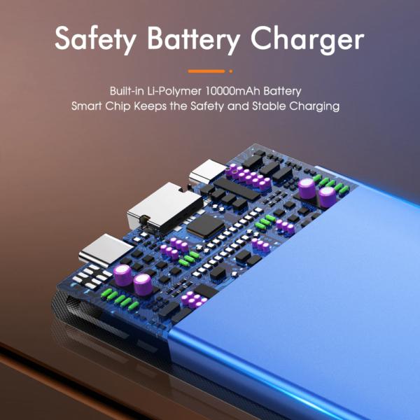 Batterie externe 2 ports de sortie sécurisée