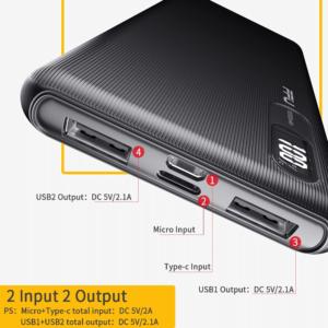 Batterie externe 10000mAh FPU Caractéristiques