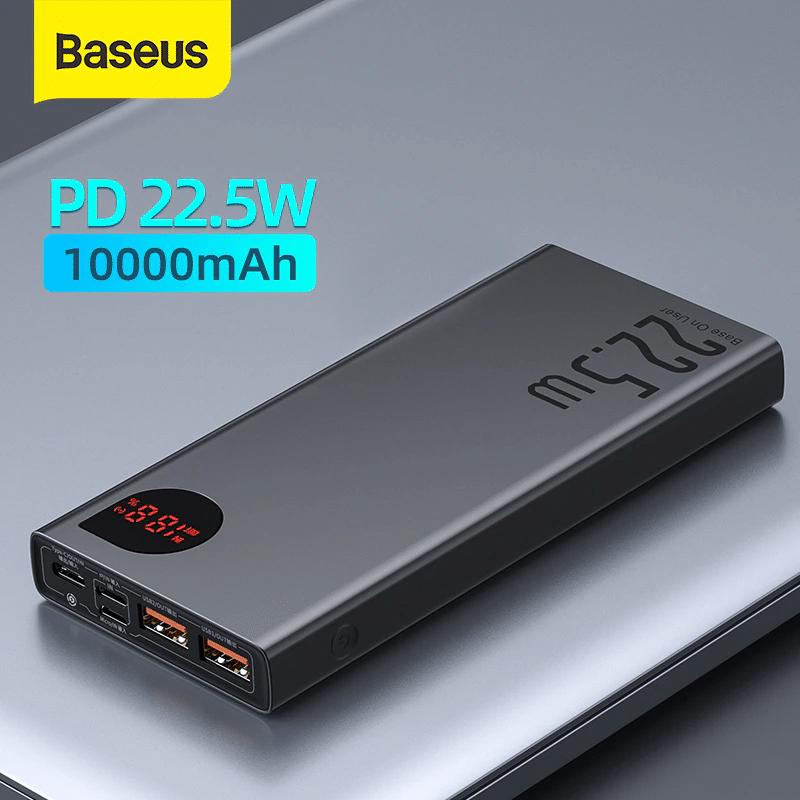 Batterie externe 10000mAh Baseus posé sur une table