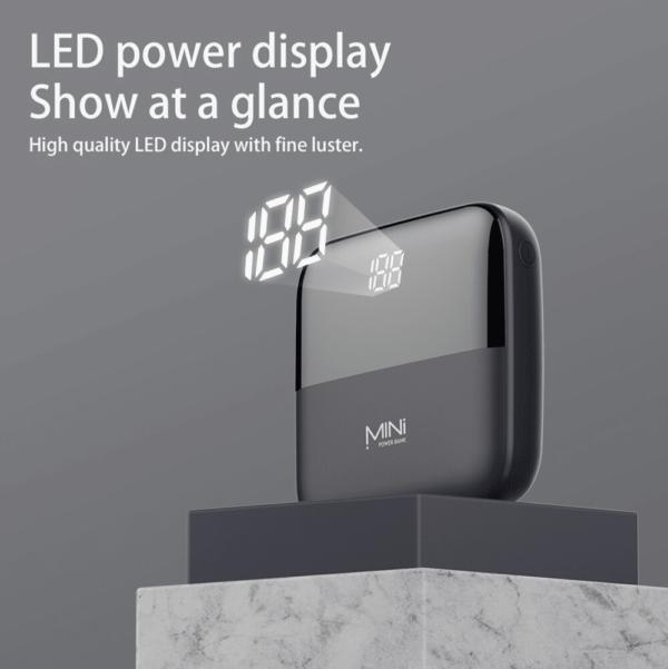 Batterie externe 10000mAh Caseier affichage LED