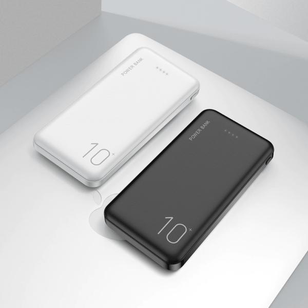 Batterie externe 10000mAh FLOVEME blanc et noir