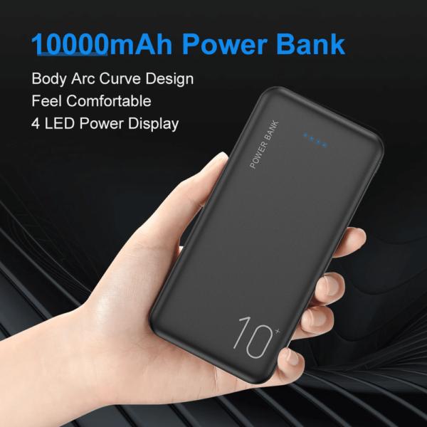 Batterie externe 10000mAh FLOVEME design courbé