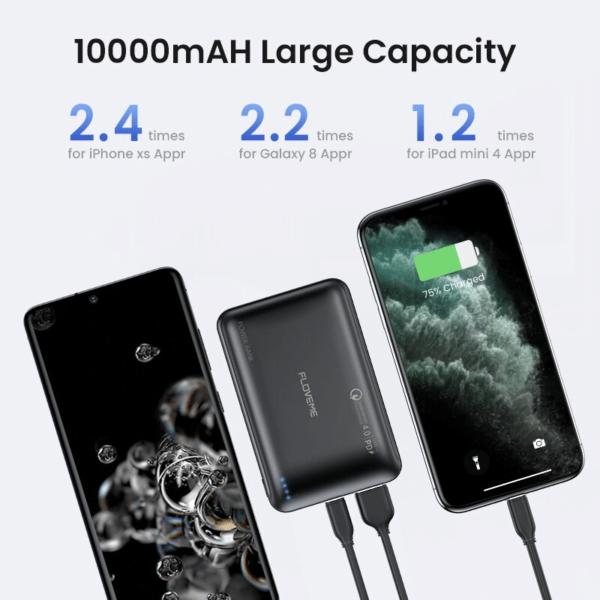 Batterie externe 10000mAh Franchised 2.4 2.2 1.2