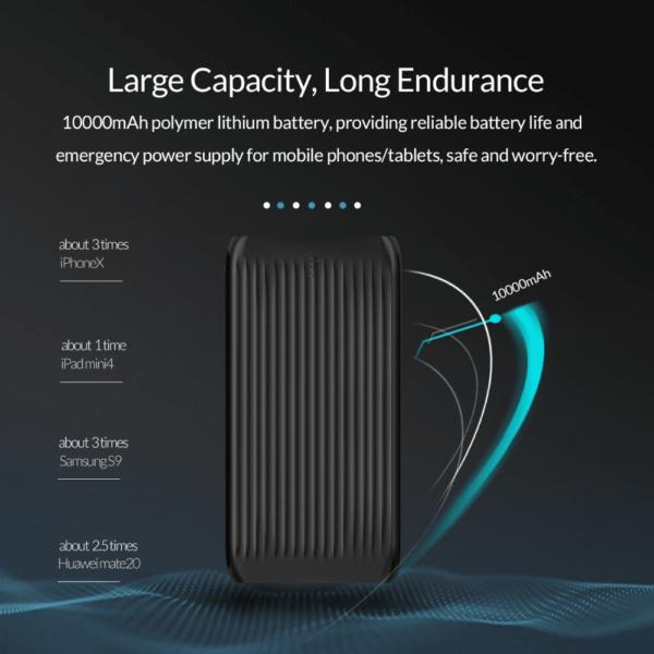 Batterie externe 10000mAh ORICO large capacité