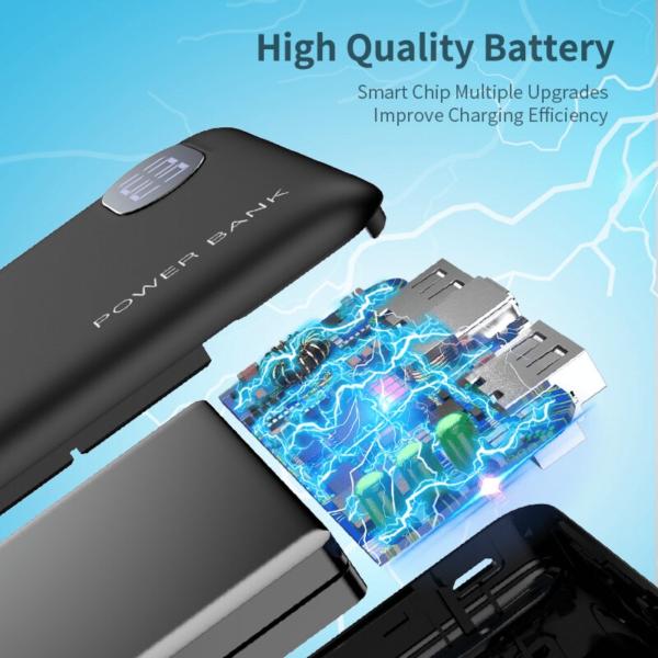 Batterie externe 10000mAh Raxfly haute qualité