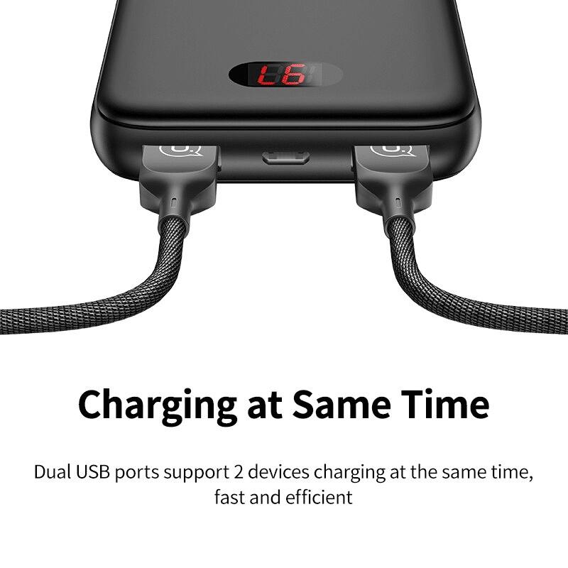 Batterie externe 10000mAh Usams charge en même temps