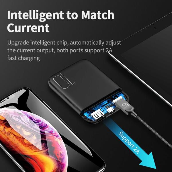 Batterie externe 10000mAh Usams charge intelligente