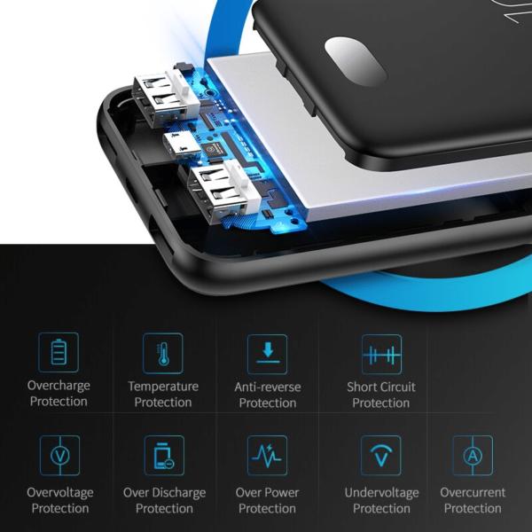 Batterie externe 10000mAh Usams multi protection