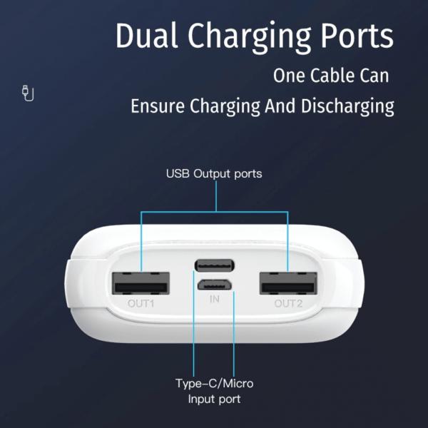 Batterie externe 10000mAh WOPOW dual charging