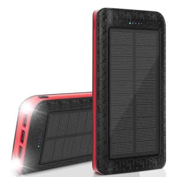Batterie externe solaire 25000mAh AMAES
