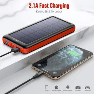 Batterie externe solaire Ekrist double USB 2.1A