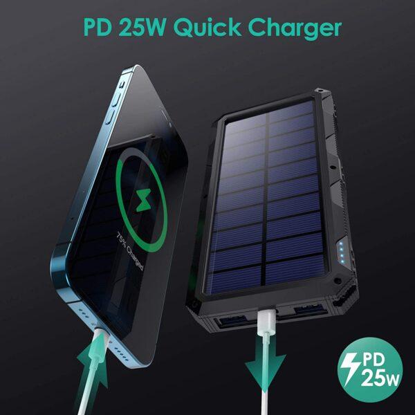 Batterie externe solaire HETP PD 25W