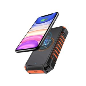 Batterie externe solaire Hiluckey charge induction