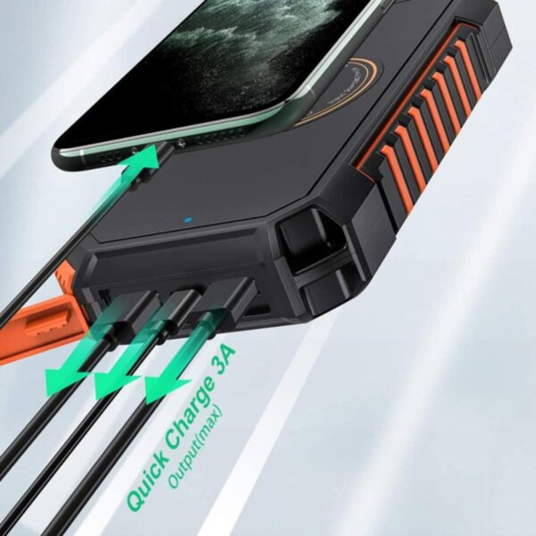 Batterie externe solaire Hiluckey charge rapide 3A