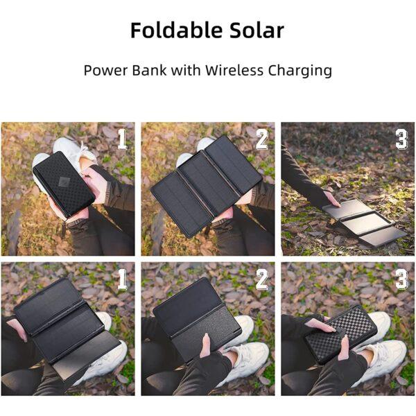 Batterie externe solaire JONKUU tutoriel utilisation