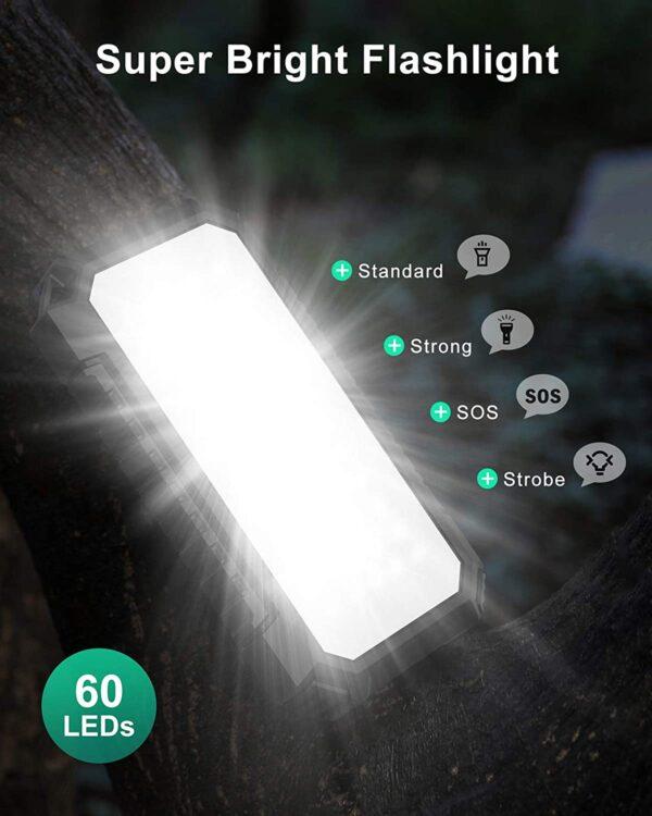 Batterie externe solaire Riapow flashlight