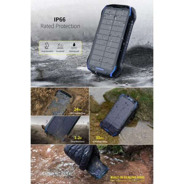 Batterie externe solaire Soluser IP66 protection
