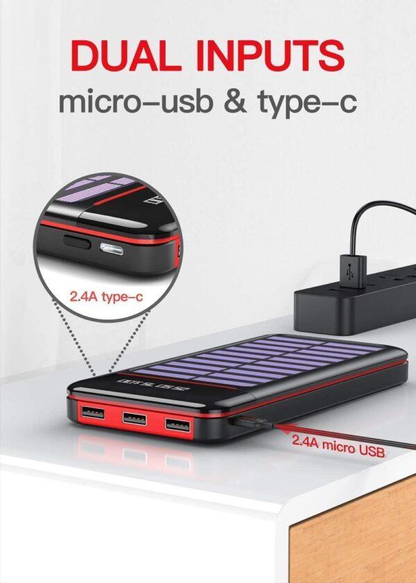 Batterie externe solaire TSSIBE double entrée