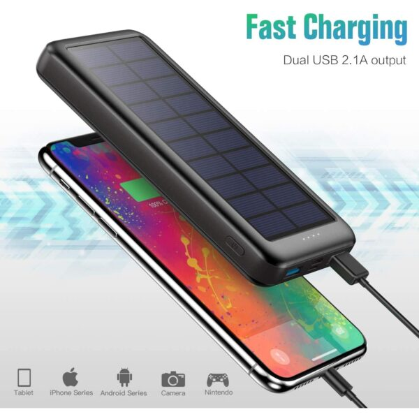 Batterie externe solaire Trswyop charge rapide
