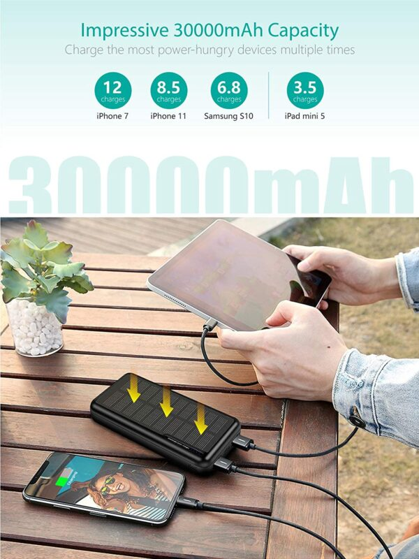 Batterie externe solaire Xiyihoo 30000mah