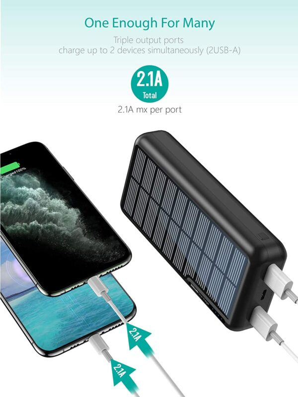 Batterie externe solaire Xiyihoo charge rapide