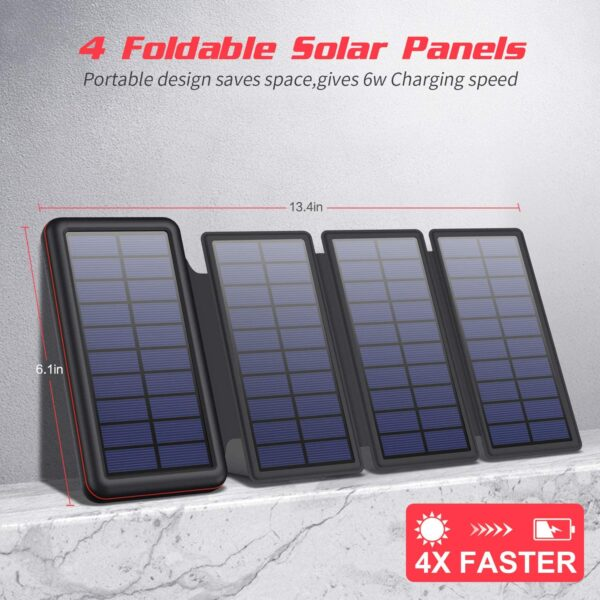 4 panneaux solaires