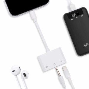 Adaptateur iPhone 3 en 1 Audio compatibible Apple