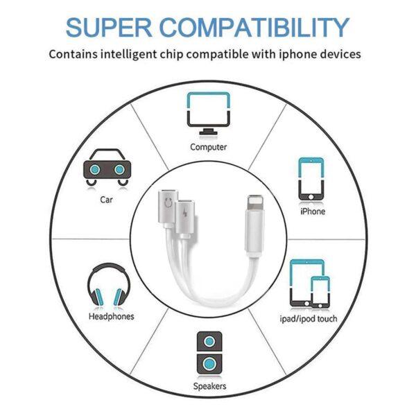 Adaptateur iPhone Casque 4 en 1 compatibilité universelle