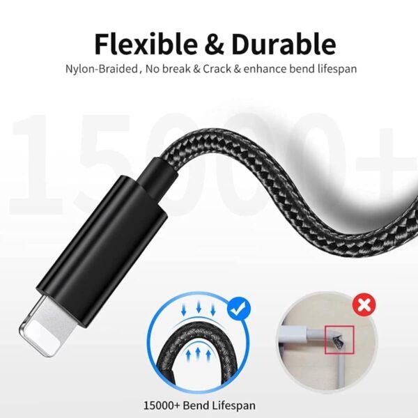 Adaptateur iPhone Lightning vers Jack Stéréo Mâle flexible et durable
