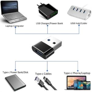 Adaptateur iPhone Lightning vers USB Type A ordinateur tablette chargeur et autre