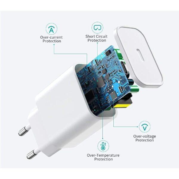 Adaptateur iPhone Secteur 18W protection