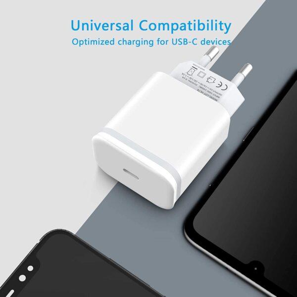 Adaptateur iPhone Secteur 20W charge optimisé