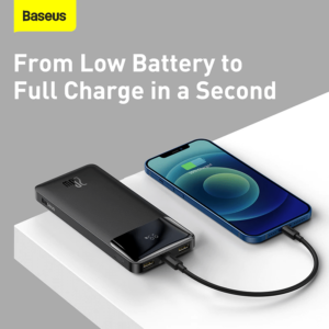 Batterie externe 20000mAh Blanche charge ultra rapide