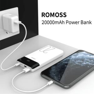 Batterie externe 20000mAh Romoss charge pendant qu'elle charge