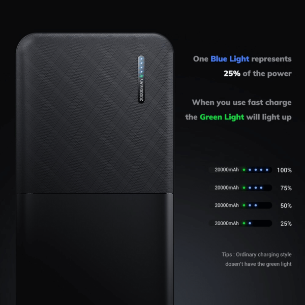 Batterie externe 20000mAh Universelle led