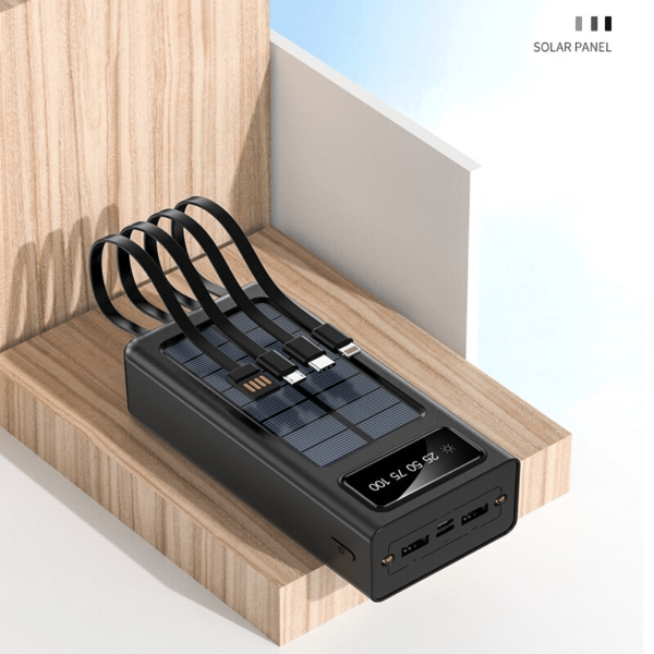 Batterie externe 50000mAh Bowlfull câbles intégrés