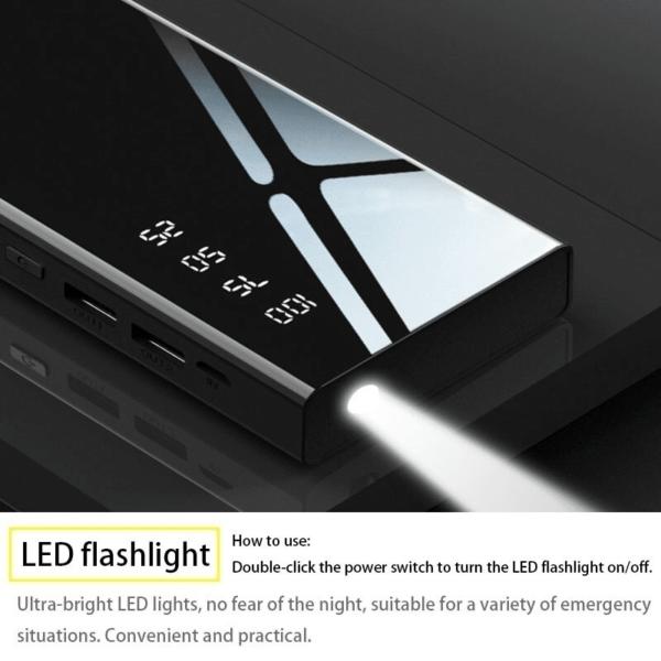 Batterie externe 50000mAh CROWN lampe torche