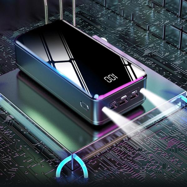 Batterie externe 50000mAh MengQI lampe de poche