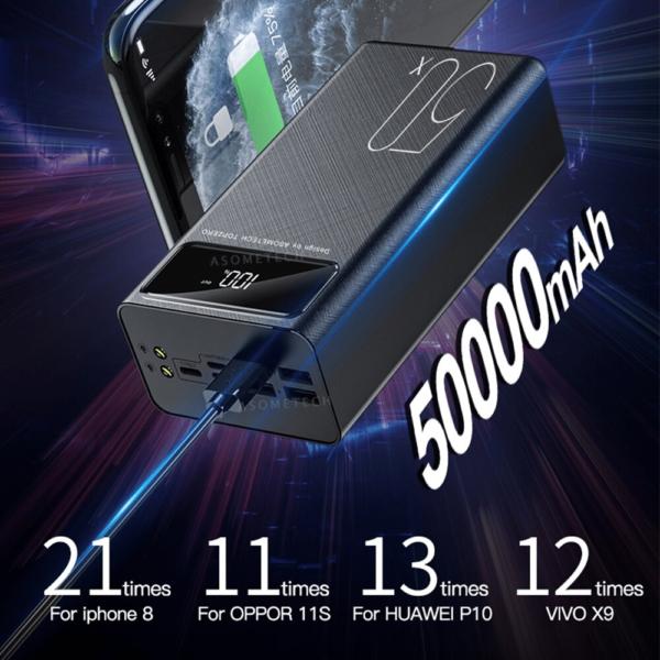 Batterie externe 50000mAh Téléphone capacite enorme