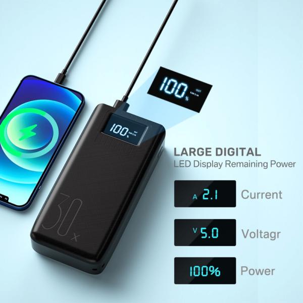 Batterie externe 50000mAh TopX affichage digital