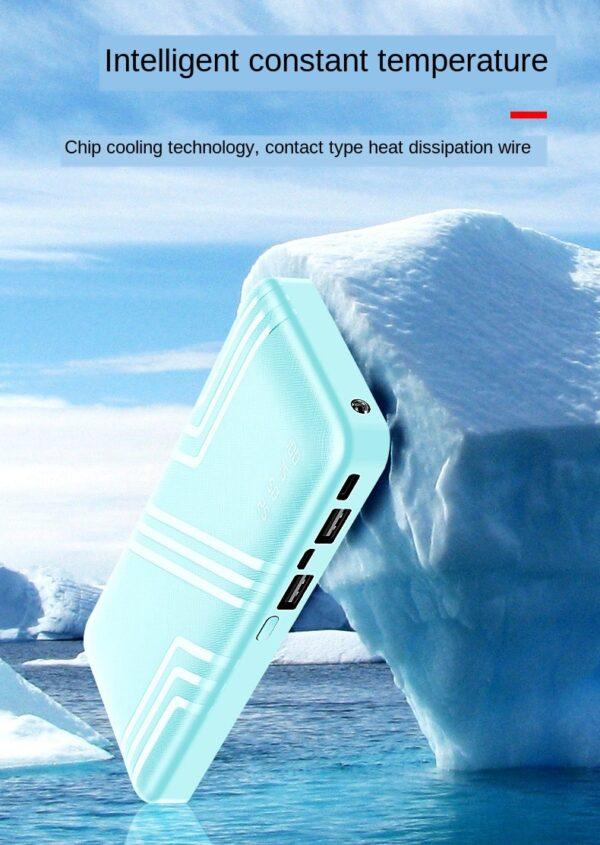 Batterie externe 50000mAh Verte temperature basse