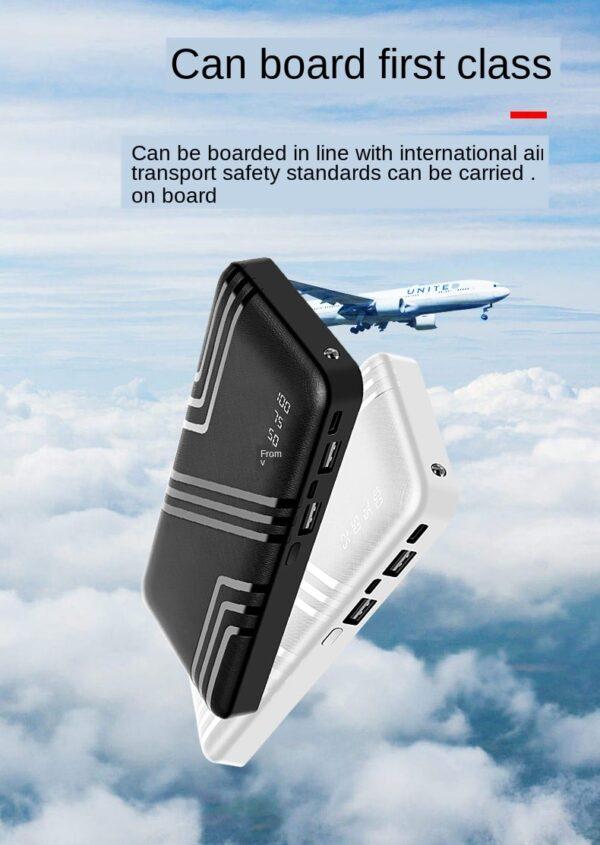 Batterie externe 50000mAh Verte transport aéroport